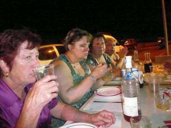 petit repas avec la troupe