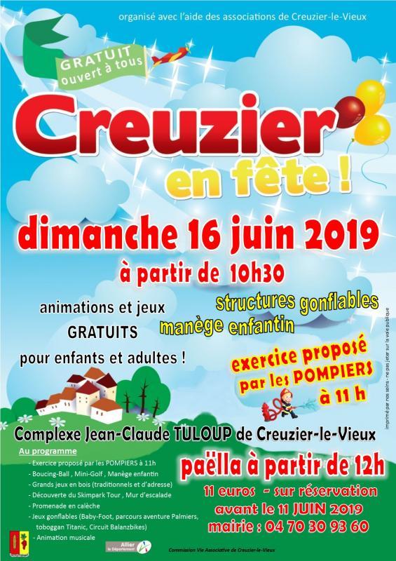 Creuzier en fete 16 juin 2019