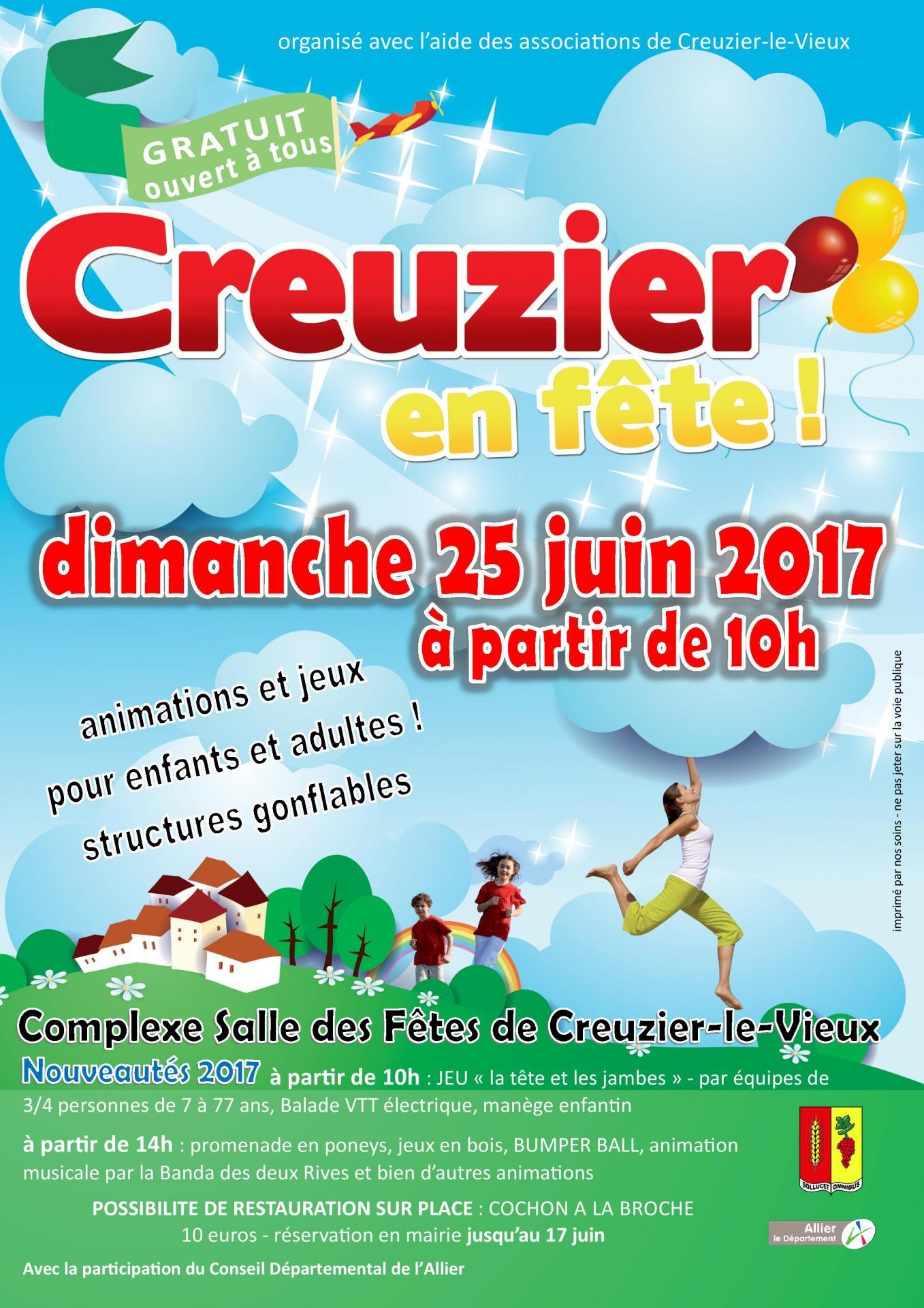 Creuzier en fete 25 juin 2017